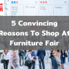 Shop at furniture fair